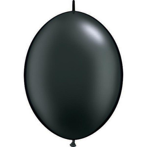 15cm Quick Link Pearl Onyx Black Qualatex Quick Link Balloons #90538 - Pack of 50 SPECIAL ORDER ITEM