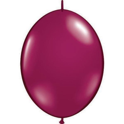 15cm Quick Link Jewel Sparkling Burgundy Qualatex Quick Link Balloons #90542 - Pack of 50 SPECIAL ORDER ITEM