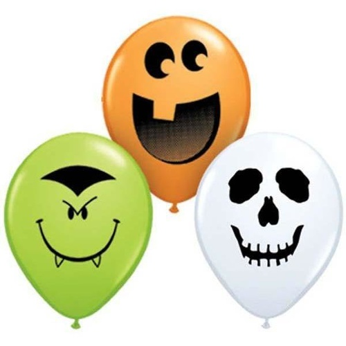 12cm Round Special Assorted Halloween Face Assorted #97677 - Pack of 100