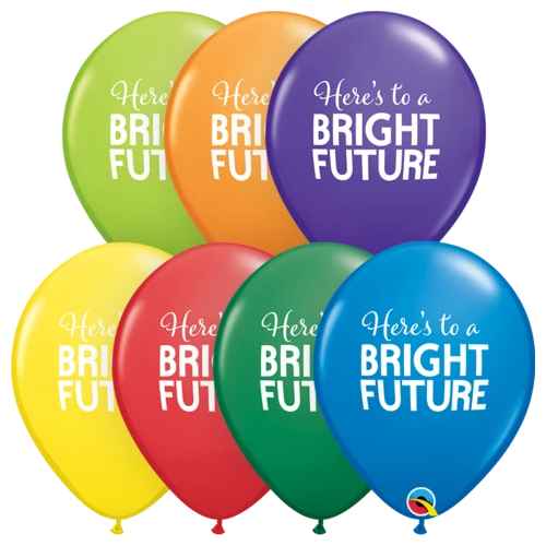 28cm Round Simply Bright Future Carnival Asst Latex Balloons #9855725 - Pack of 25