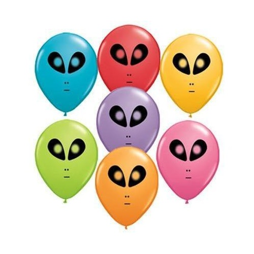 12cm Round Festive Assorted Space Alien #98601 - Pack of 100