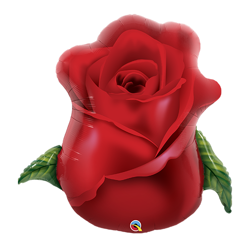 83cm Shape Love Red Rose Bud Foil Balloon #98696 - Each (Pkgd.)