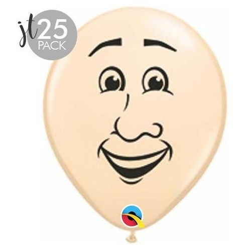 12cm Round Blush Man's Face #9930825 - Pack of 25
