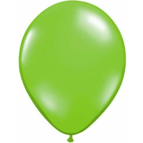 40cm Round Jewel Lime Qualatex Plain Latex #99333 - Pack of 50 SPECIAL ORDER ITEM