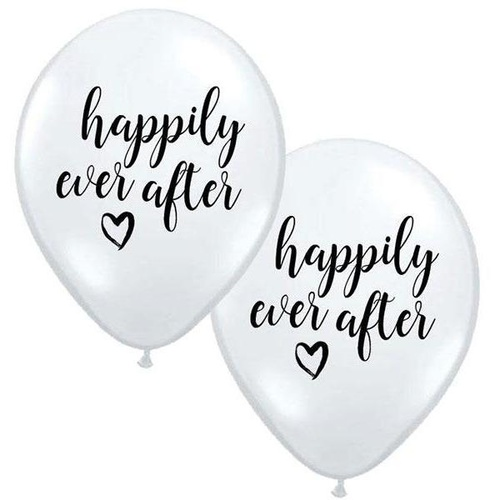 28cm Round White Happily Ever After #JT100225 - Pack of 25