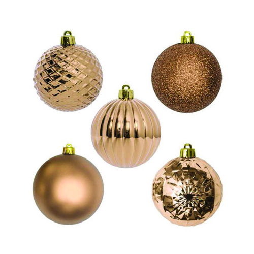 Christmas Hanging Bauble Bronze (7cm) #KC33009201PK - Pack of 30